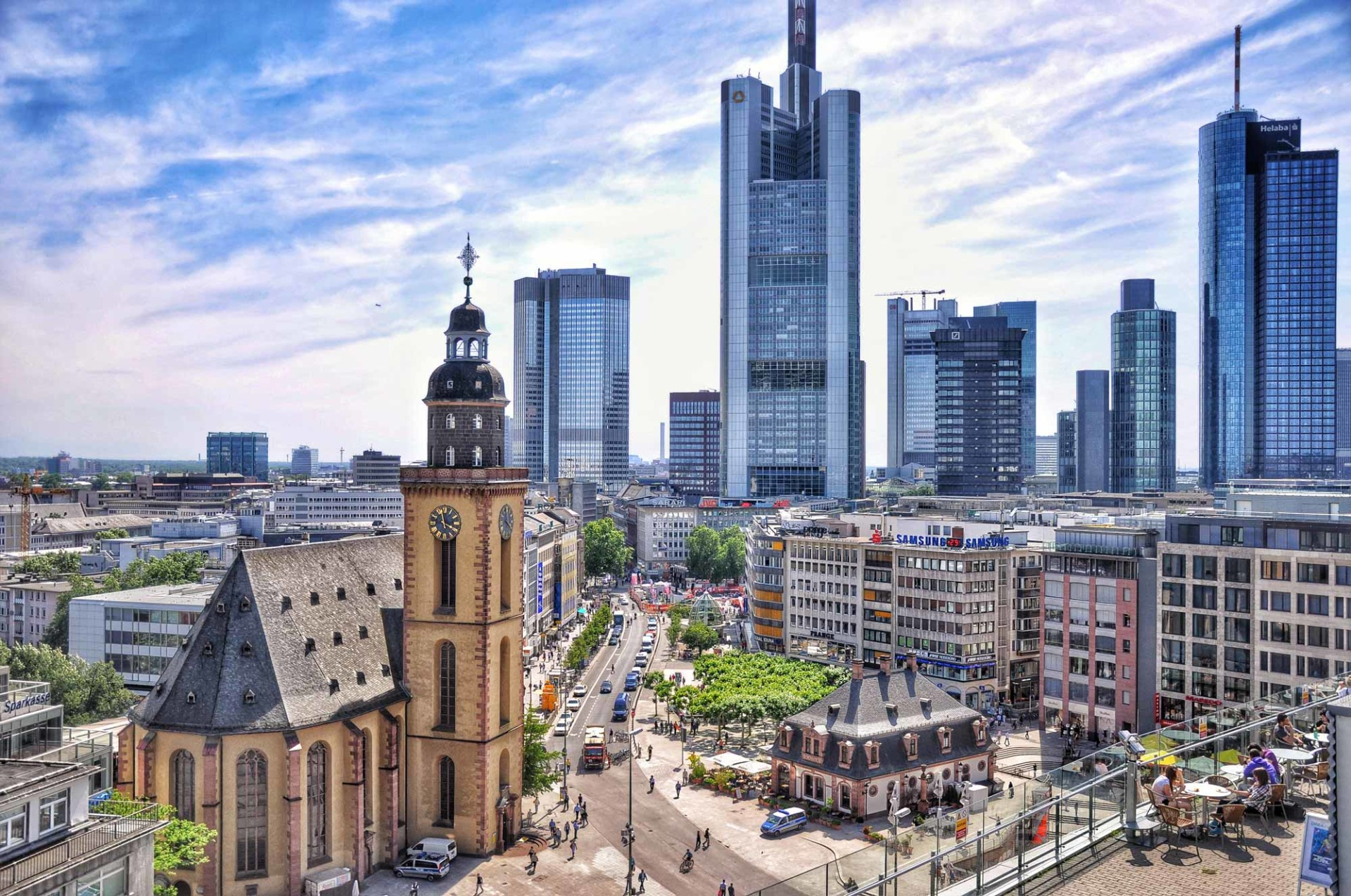 The past, present and future in Frankfurt