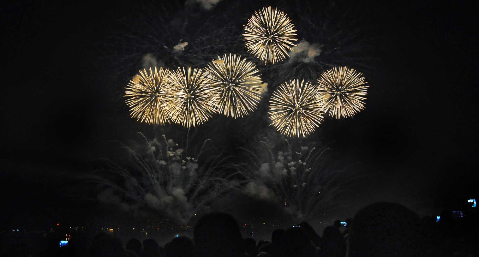 Fireworks in Zurich -Switzerland