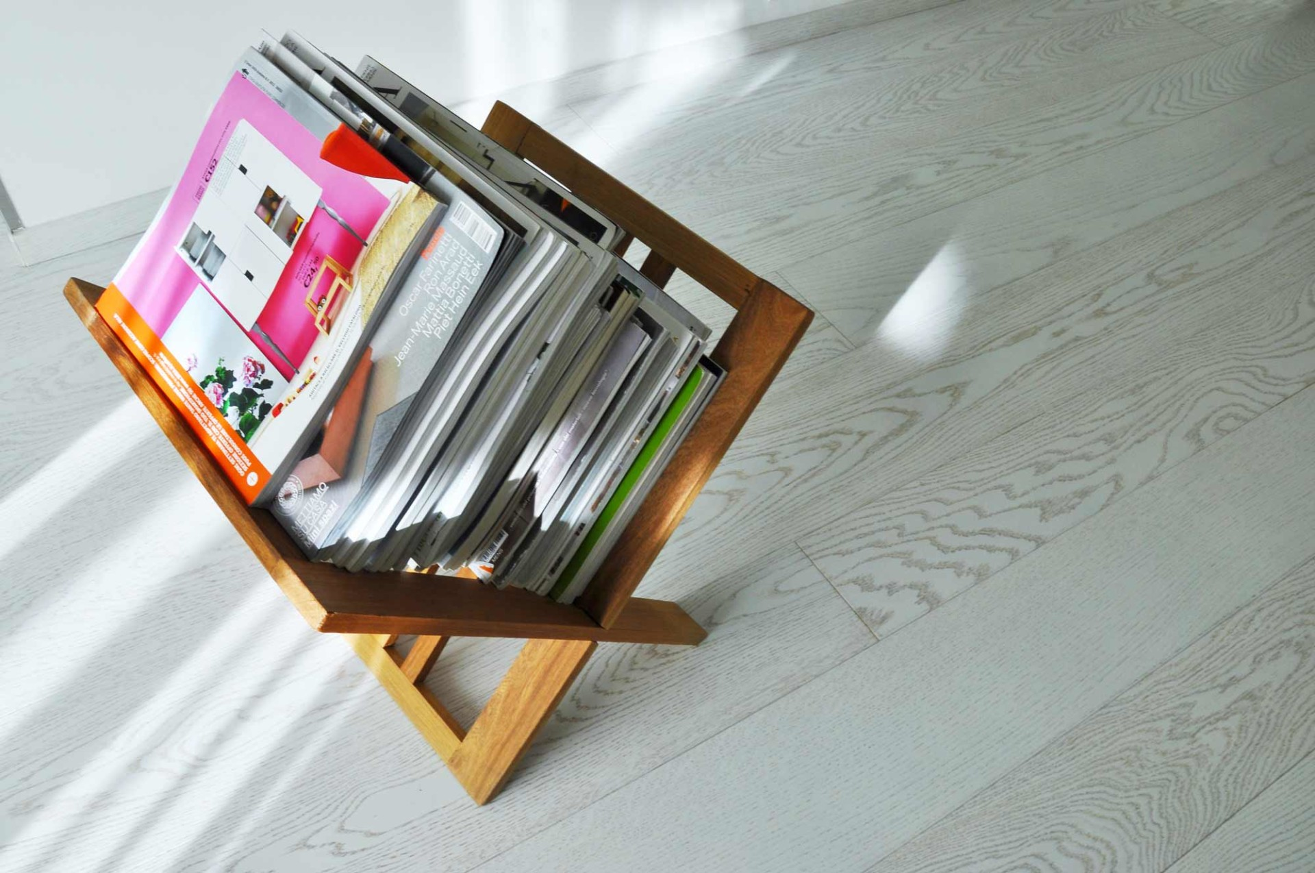 A wood bookcase