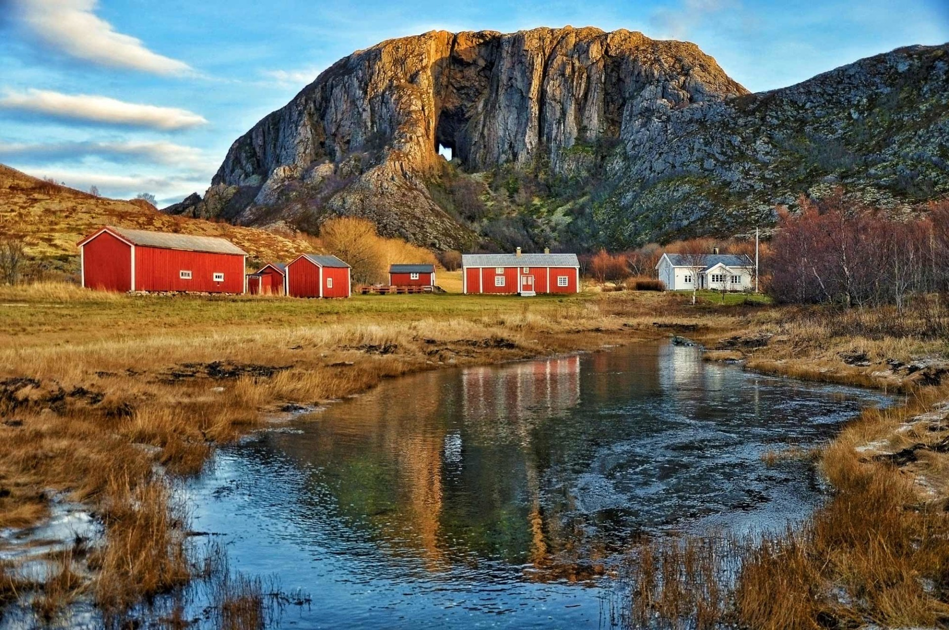 Front view of Torghatten mountain - Norway