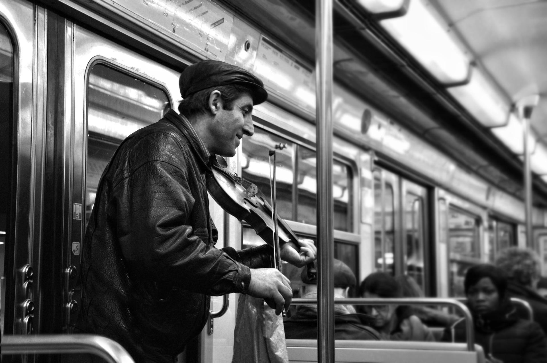 Violinista in metro