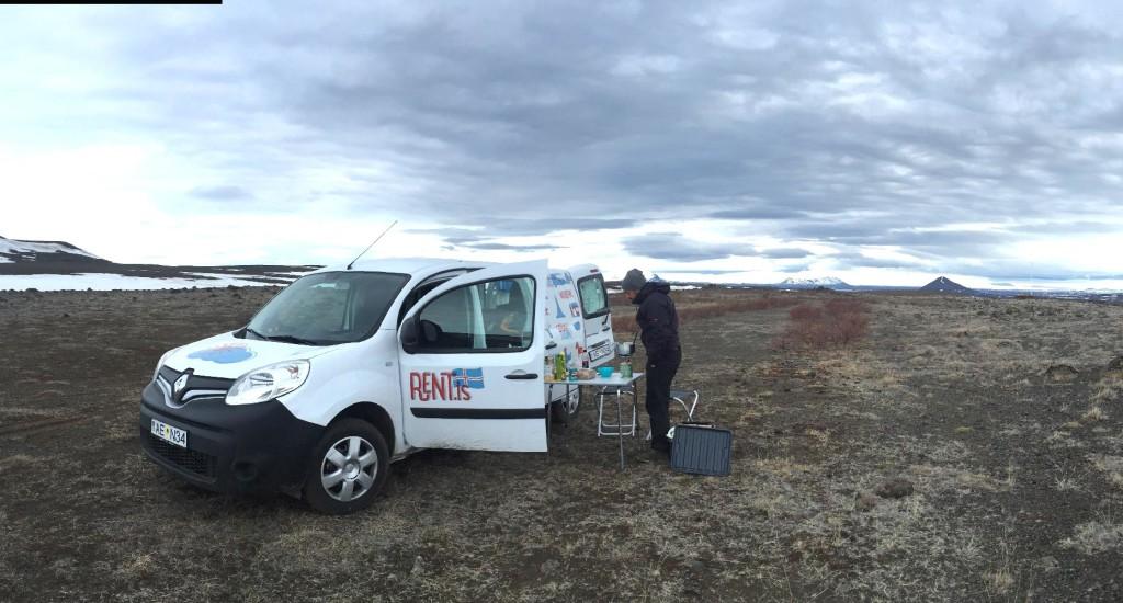 Kangoo camper Islanda